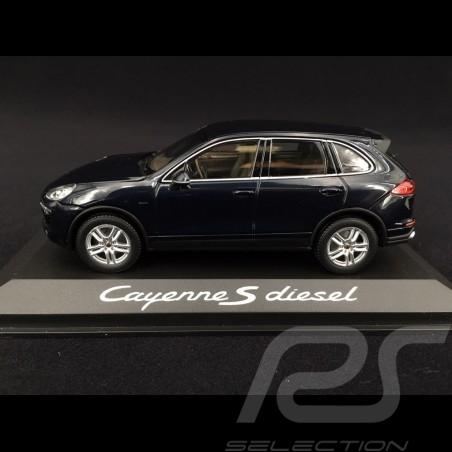 Porsche Cayenne S Diesel type 958 2015 1/43 Minichamps WAP0200080E bleu nuit métallisé midnight blue  metallic nachtsblau metall