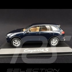 Porsche Cayenne S type 958 2015 midnight blue  metallic 1/43 Minichamps WAP0200060E