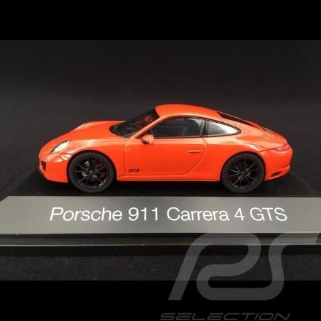 Porsche 911 type 991 phase II Carrera 4 GTS 2017 lava orange 1/43 Herpa 071468