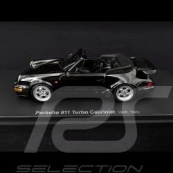 Porsche 911 type 964 Turbo Cabriolet 1993 Noir black schwarz 1/43 Autocult 60031