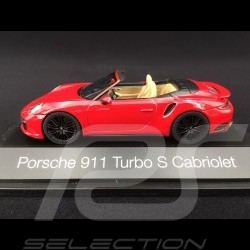Porsche 911 type 991 phase II Turbo S Cabriolet 2016 carmin red 1/43 Herpa 071482