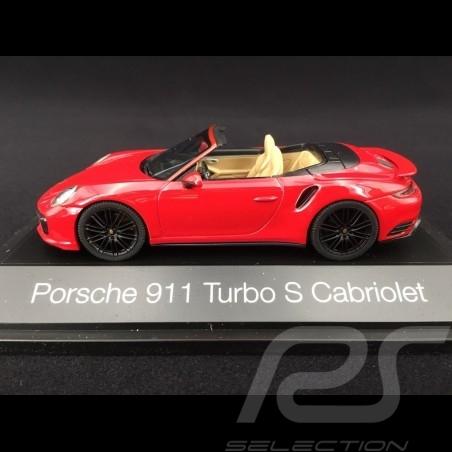 Porsche 911 type 991 phase II Turbo S Cabriolet 2016 carmin red 1/43 Herpa 071482