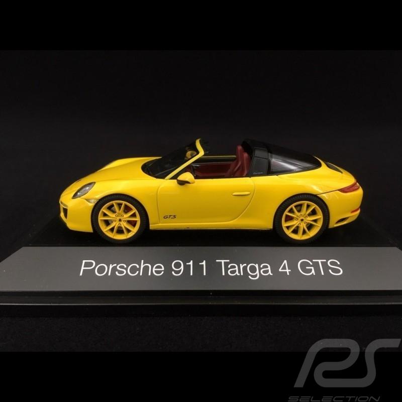 Porsche 911 type 991 phase II Targa 4 GTS 2016 racing yellow 1/43 Herpa 071499