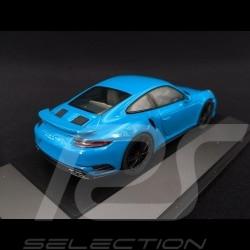 Porsche 911 type 991 phase II Turbo S 2016 Miami blue 1/43 Herpa 071475