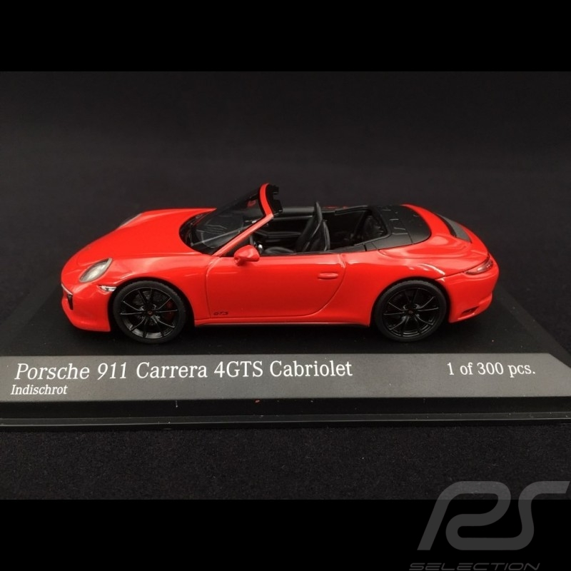 Porsche 911 type 991 phase II Carrera 4 GTS Cabriolet 2017 guards red 1/43 Minichamps 410067330