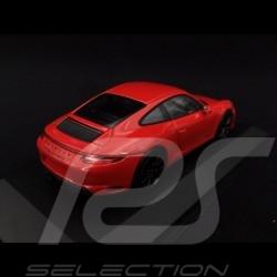 Porsche 911 type 991 phase II Carrera 4 GTS 2017 guards red 1/43 Minichamps 410067320