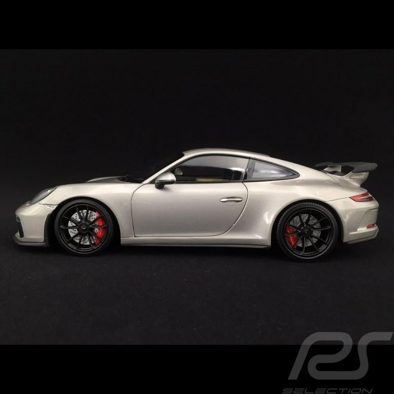 Porsche 911 type 991 phase II GT3 2017 silver 1/18 Minichamps 110067035