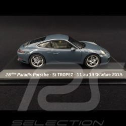 Porsche 911 Carrera type 991 phase II 2015 graphit blau 1/43 Herpa WAP0201160G