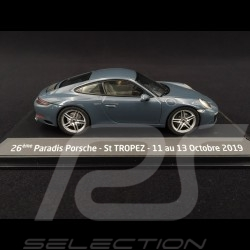 Porsche 911 Carrera type 991 phase II 2015 graphite blue 1/43 Herpa WAP0201160G