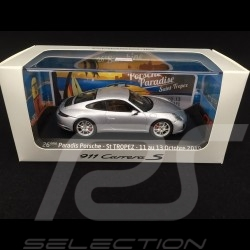 Porsche 911 Carrera S type 991 phase II 2015 gris argent silver grey silbergrau 1/43 Herpa WAP0201280G