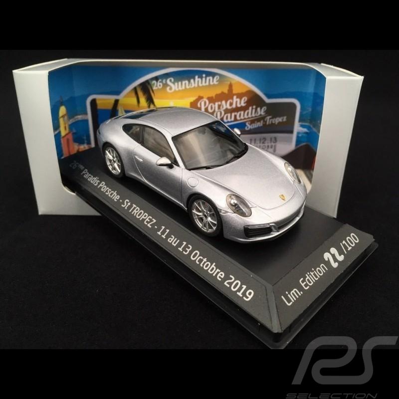 Porsche 911 Carrera S type 991 phase II 2015 silver grey 1/43 Herpa WAP0201280G