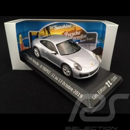 Porsche 911 Carrera S typ 991 phase II 2015 silbergrau 1/43 Herpa WAP0201280G
