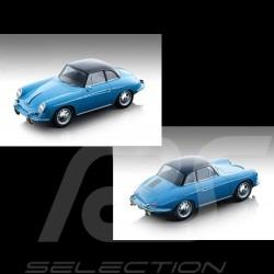Précommande Porsche 356 Karmann Hardtop 1961 Bleu / Noir 1/18 Tecnomodel TM18 blue blau