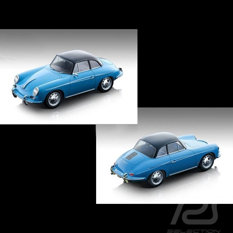 Preorder Porsche 356 Karmann Hardtop 1961 blue / black 1/18 Tecnomodel TM18