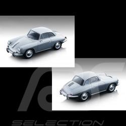 Vorbestellung Porsche 356 Karmann Hardtop 1961 Silbergrau 1/18 Tecnomodel TM18