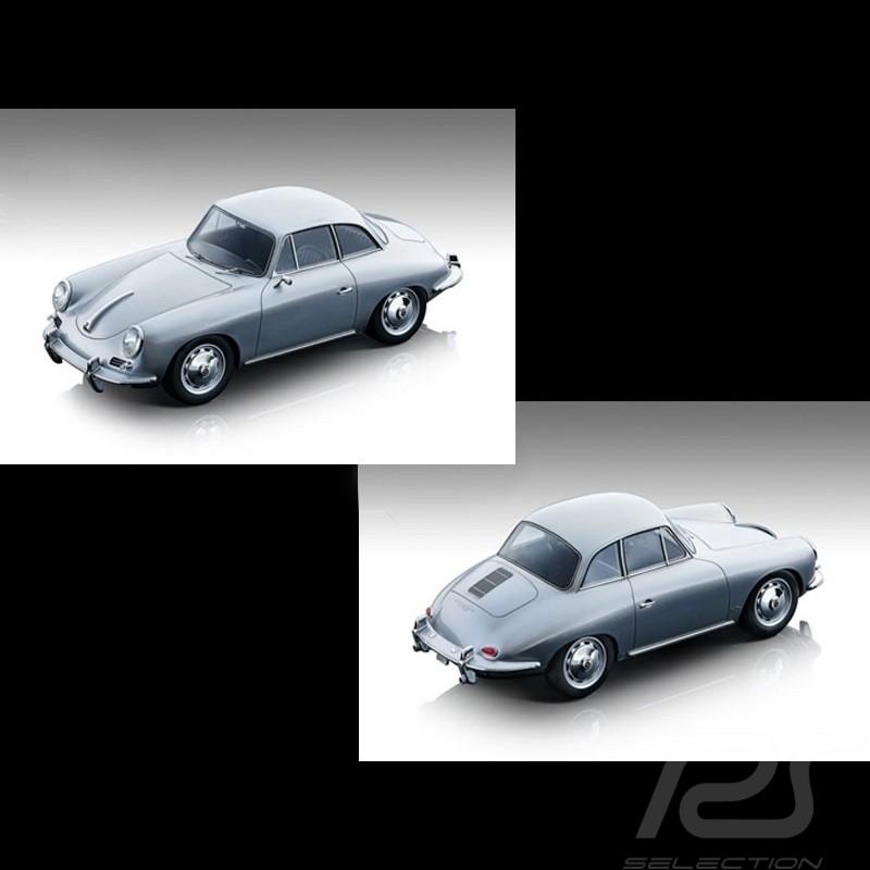 Preorder Porsche 356 Karmann Hardtop 1961 silver grey 1/18 Tecnomodel TM18