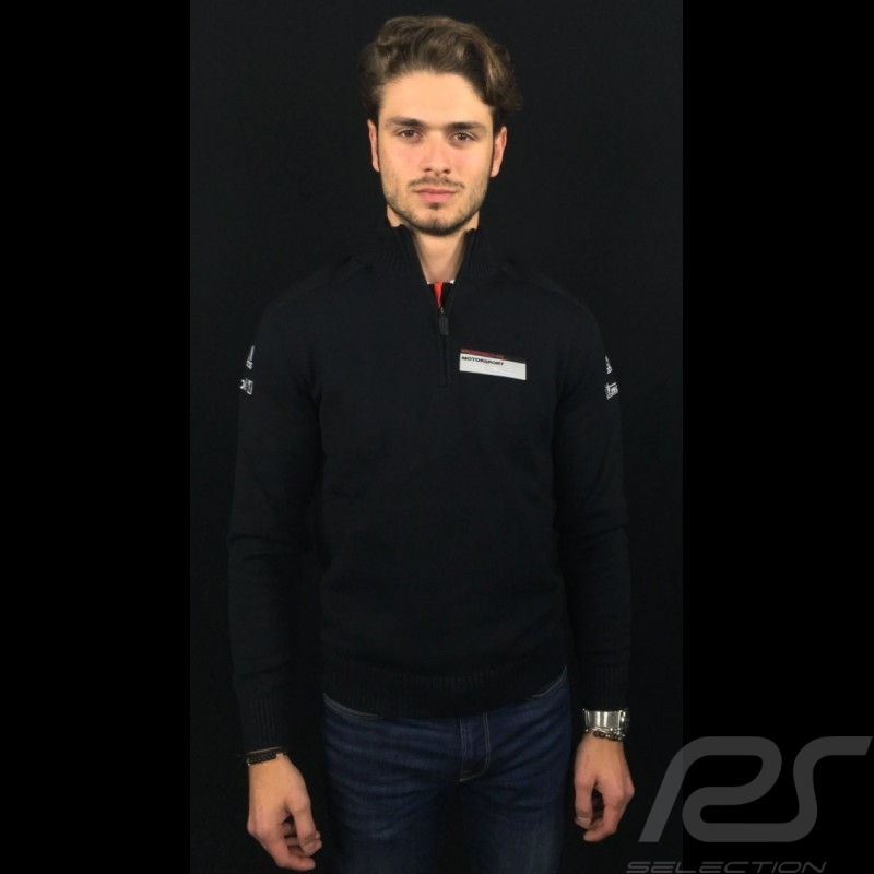 Adidas Knit sweater Porsche Motorsport Cotton blend Black Porsche Design WAX10101 - unisex