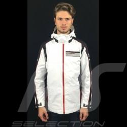 Veste de pluie Adidas Porsche Motorsport Noir / Blanc Porsche Design WAX10202 rain jacket regenjacke mixte