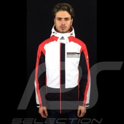Veste Adidas Porsche Motorsport Tous Temps Noir / Blanc / rouge / gris Porsche Design WAX20105 all weather jacket allwetter jack