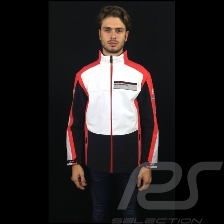 Adidas Softshell jacket Porsche Motorsport Black / White / Red / Grey Porsche Design WAX20104 - men