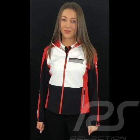 Adidas Softshelljacke Porsche Motorsport Schwarz / Weiß / Rot / Grau Porsche Design WAX30103 - Damen
