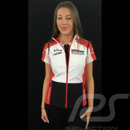 Veste jacket jacke sans manches Adidas Porsche Motorsport Softshell Noir / Blanc / rouge / gris Porsche Design WAX30102 - femme