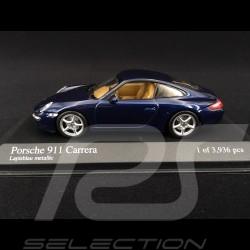 Porsche 911 type 997 Carrera 2004 Bleu 1/43 Minichamps 400063020