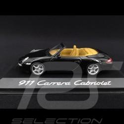 Porsche 997 Carrera Cabriolet Mk 1 2005 black 1/43 Minichamps WAP02015015