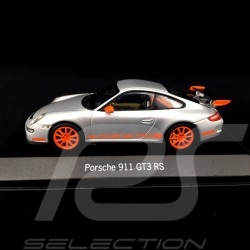 Porshe 911 type 997 GT3 RS 2006 Gris Metal / Orange 1/43 Minichamps silver grey silbergrau