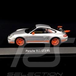 Porshe 911 type 997 GT3 RS 2006 Silver grey / Orange 1/43 Minichamps