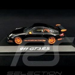 Porsche 911 type 997 GT3 RS 3.6 2006 mk I Black / Orange 1/43 Minichamps WAP02012817
