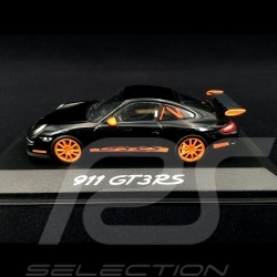 Porsche 911 type 997 GT3 RS 3.6 2006 ph I Noir black schwarz / Orange 1/43 Minichamps WAP02012817