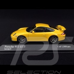 Porsche 911 type 997 GT3 3.8 ph 2 2010 jaune vitesse speed yellow speddgelb 1/43 Minichamps 400068021
