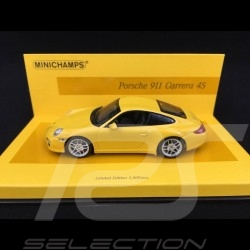 Porsche 997 Carrera 4S Mk 2 2009 gelb 1/43 Minichamps 436066420