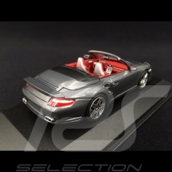 Porsche 911 type 997 Turbo Cabriolet 2007 - 2009 grey 1/43 Minichamps WAP02000218