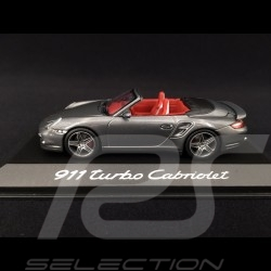 Porsche 911 typ 997 Turbo Cabriolet 2007 - 2009 grau 1/43 Minichamps WAP02000218