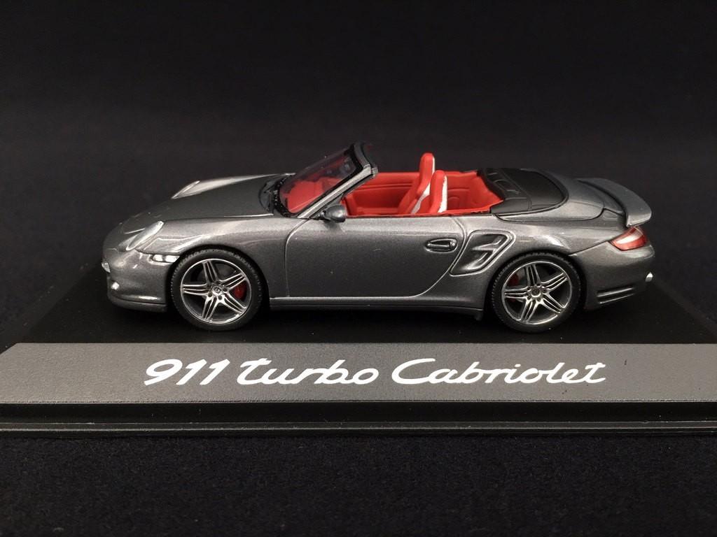 Porsche 911 Type 997 Turbo Cabriolet 2007 2009 Grey 1 43 Minichamps Wap02000218 Selection Rs