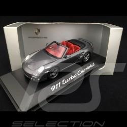 Porsche 911 type 997 Turbo Cabriolet 2007 - 2009 gris 1/43 Minichamps WAP02000218