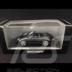 Porsche 911 type 997 Carrera Cabriolet Phase 2 2011 Black Edition noir 1/43 Minichamps 400066434