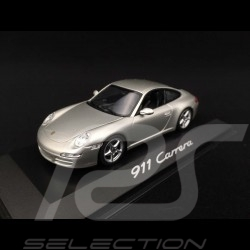 Porsche 911 Carrera type 997 Mk 1 2005 grey 1/43 Minichamps WAP02011415