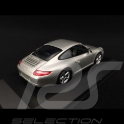 Porsche 911 Carrera type 997 Mk 1 2005 grey 1/43 Minichamps WAP02011415