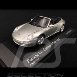 Porsche 997 Carrera 4S Cabriolet 2005 argent 1/43 Minichamps 400065330