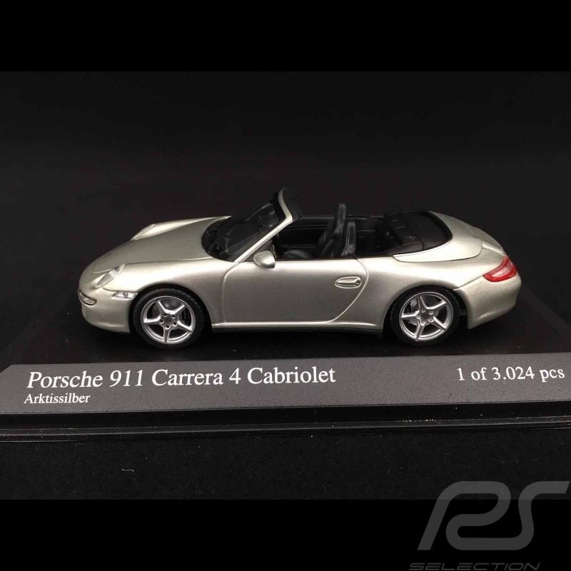 Porsche 997 Carrera 4S Cabriolet 2005 silber 1/43 Minichamps 400065330