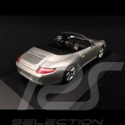 Porsche 997 Carrera 4S Cabriolet 2005 silver 1/43 Minichamps 400065330