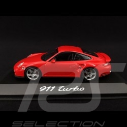 Porsche 911 Type 997 Turbo ph 1 2007 mk 1 2007 Indischrot 1/43 Minichamps WAP02013116