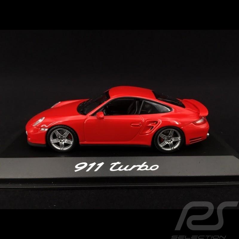 Porsche 997 Turbo 3.6 ph 1 2007 rouge indien guards red indischrot  1/43 Minichamps WAP02013116
