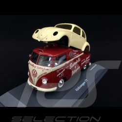 VW Transporter T1 Beardalls of Nottingham with beetle body 1/43 Schuco 450907800