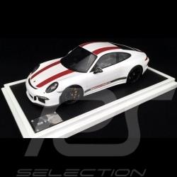 Porsche 911 R type 991 2016 1/12 Spark WAX02200004 blanche white weiß bandes rouges redstripes rote Streifen