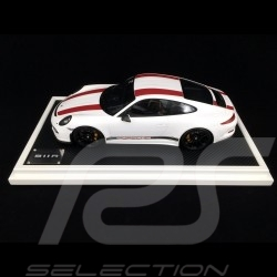 Porsche 911 R type 991 2016 white red stripes 1/12 Spark WAX02200004