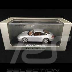 Porsche 911 type 997 Carrera Mk II 2009 silver grey 1/43 Minichamps WAP02001218